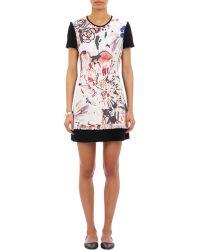 Amelia Toro Painterly Floral-Print Dress - Lyst