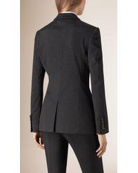 Burberry - Cotton Blend Jacquard Jacket - Lyst