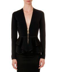 Givenchy Satin-Trim Ruffle Jacket - Lyst