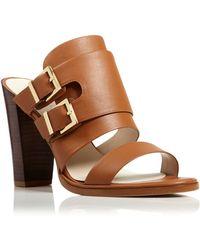 Kenneth Cole Open Toe Slide Sandals - Salem High Heel - Lyst