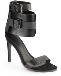 Tibi Riley Wide Ankle Strap Leather Sandals - Lyst