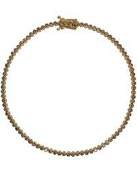 Paul Morelli - Gold Cognac Diamond Pinpoint Stitch Bracelet - Lyst