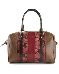 Etro Snakeskin Effect Panelled Tote - Lyst
