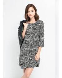 Mango Bicolor Printed Dress - Lyst
