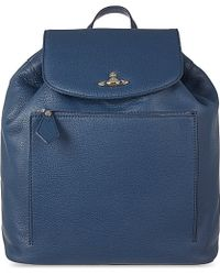 Vivienne Westwood Leather Backpack - For Men - Lyst