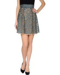 Miu Miu Knee Length Skirt - Lyst