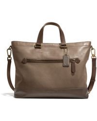 Coach Bleecker Urban Commuter in Colorblock Leather brown - Lyst