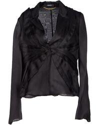 Versace Black Blazer - Lyst