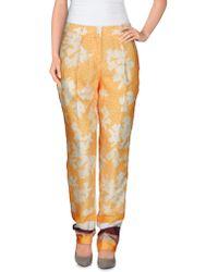 Vionnet Casual Trouser orange - Lyst