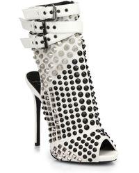Giuseppe Zanotti Studded Platform Bootie Sandals - Lyst