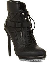 BCBGMAXAZRIA Nola High-Heel Lace-Up Day Boot - Lyst