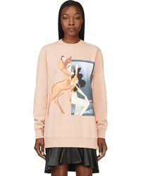 Givenchy Peach Bambi Graphic Sweatshirt - Lyst
