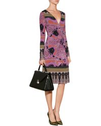 Etro Paisley Print Wrap Dress - Lyst