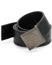 Versace Leather  Engraved Square Medusa Belt - Lyst