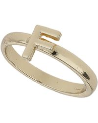 TOPSHOP - F Letter Ring - Lyst