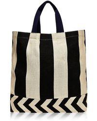Vanities Mixed Stripe Tote Bag - Lyst