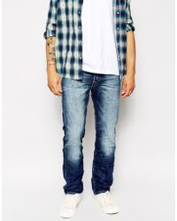 Replay Jeans Waitom Laserblast Straight Fit Dark Wash - Lyst