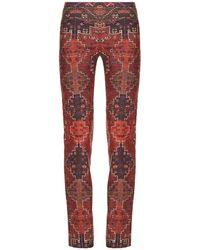 Tory Burch - Stretch Wool & Silk Pant - Lyst