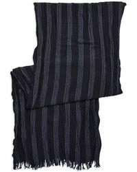 John Varvatos Striped Wool Scarf - Lyst
