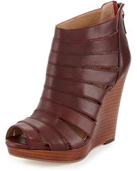 Splendid Bailey Leather Wedge Sandal - Lyst