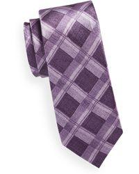 Black Brown 1826 - Plaid Silk Tie - Lyst