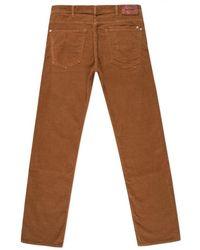 Paul Smith Tan Garment-Dye Corduroy Trousers brown - Lyst