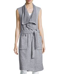 Nicholas - Sleeveless Wrap Long Vest - Lyst