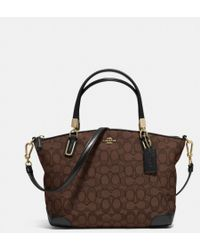 Coach Small Kelsey Crossbody in Signature Jacquard - Lyst