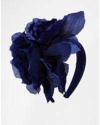 Coast - Jools Navy Flower Hairband - Lyst