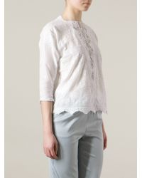Vanessa Bruno Albane Embroidered Blouse - Lyst