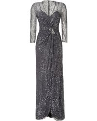 Jenny Packham Sequined Evening Gown - Lyst