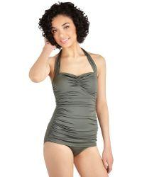 Esther Williams Swimwear Bathing Beauty One-Piece Swimsuit In Sage - Lyst