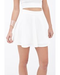 Forever 21 Textured Knit Skater Skirt - Lyst