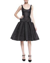 Zac Posen | Sleeveless Dropped-waist Dress | Lyst