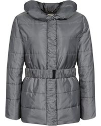 Precis Petite - Ruched Padded Coat. Silver - Lyst