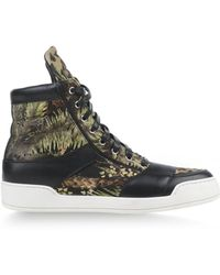 Balmain Black Hightops  Trainers - Lyst