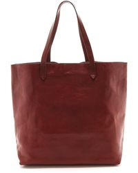 Madewell The Transport Tote Dark Cabernet - Lyst