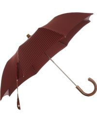 Barneys New York - Twill Stripe Compact Umbrella - Lyst