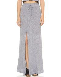 Lanston - Slit Maxi Skirt - Heather - Lyst
