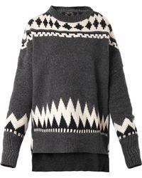 Adam Lippes Fair Isleknit Sweater - Lyst