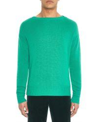 Burberry Prorsum Boat-neck Cashmere-blend Sweater - Lyst