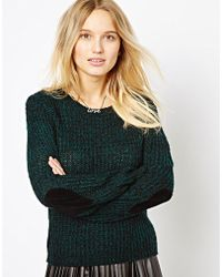Love - Heart Elbow Patch Sweater - Lyst