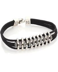 King Baby Studio   Coin Link Black Leather Bracelet   Lyst