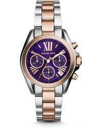 Michael Kors Bradshaw Two-tone Stainless Steel Watch - Lyst