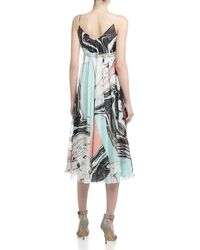Diane Von Furstenberg Jolie Marbleprint Pleated Dress Spring Marble 12 - Lyst