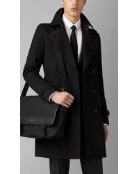Burberry Leather Trim Messenger Bag - Lyst