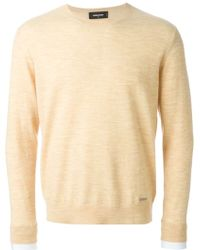 DSquared² Crew Neck Sweater beige - Lyst