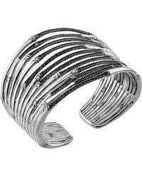 John Hardy Bamboo Silver Lava Wide Flex Cuff - Lyst