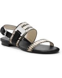 Michael Kors Guiliana Snake-embossed Leather Sandal - Lyst