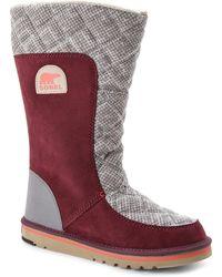 Sorel Burgundy & Grey Campus Tall Boots purple - Lyst